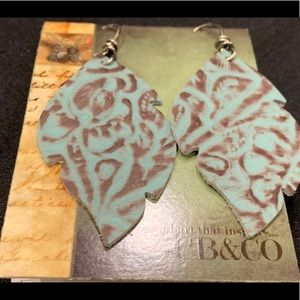 Handmade leather punched earrings